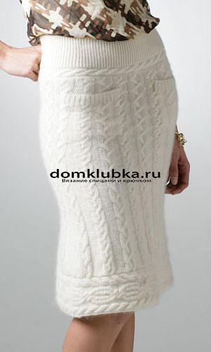 Ажурная юбка модная