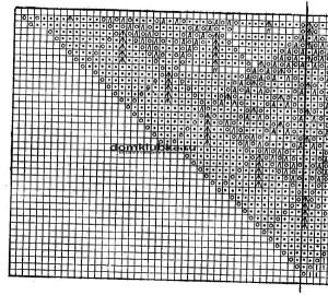 Схема вязания скатерти №3