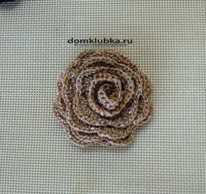 Аксессуар грязно-кофейная роза