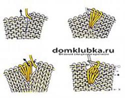 Как связать узор шишечки