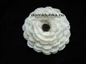 Аксессуар белая роза