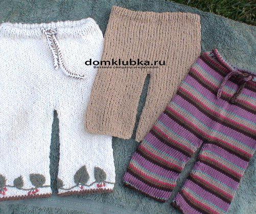 Как вязать штанишки на ребенка на 1 год