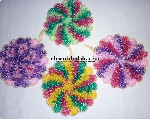 Круглые цветные мочалки