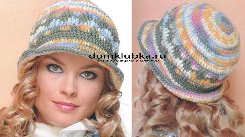 Тёплая вязаная шляпка