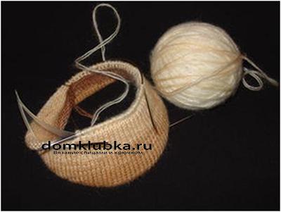 Процесс вязания кепки №3