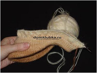 Процесс вязания кепки №5