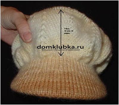 Процесс вязания кепки №6
