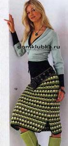 Красивая юбка с интересным узором