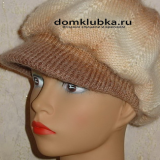 Модная вязаная кепка