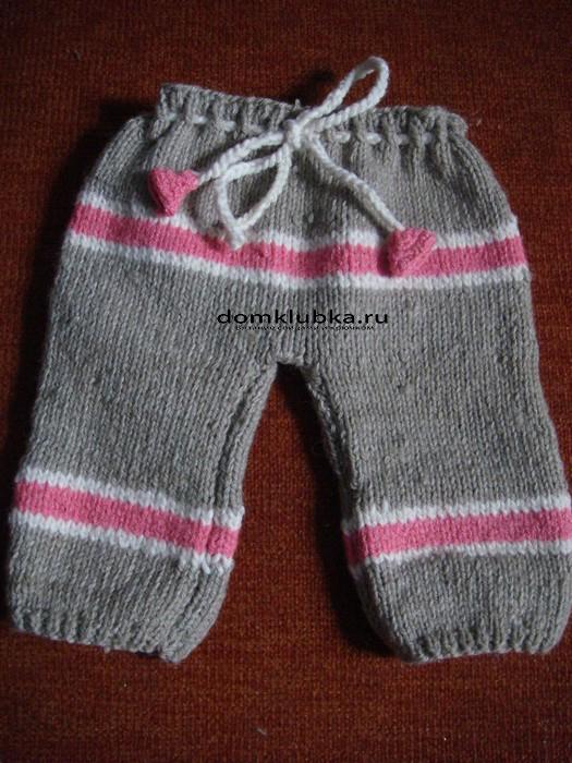 Вяжем спицами штанишки для новорожденных