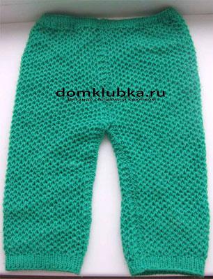 Зелёные штанишки для новорожденных