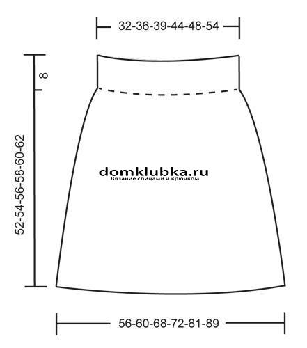 схема для вязания юбки