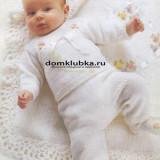 Белый комплект для новорожденного малыша