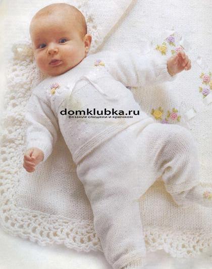 Конверт связанный спицами для новорожденного схема фото 652