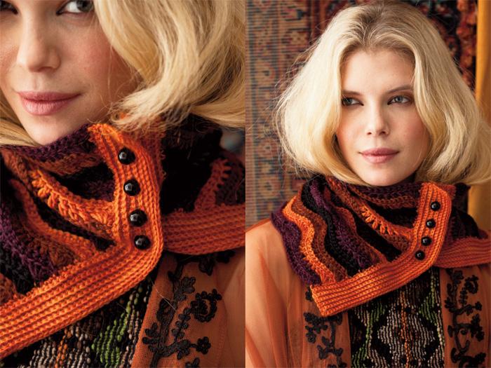 28Ютуб вязание шарфа воротника