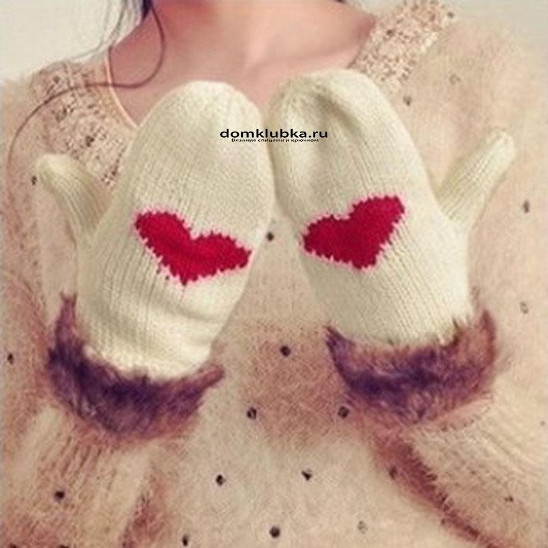 Стильные вязаные перчатки
