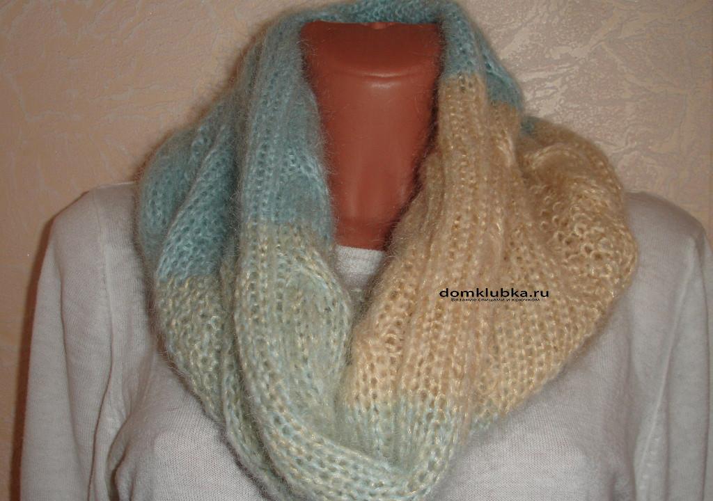 Красивый шарф из мохера
