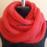 Тёплый вязаный шарф из мохера