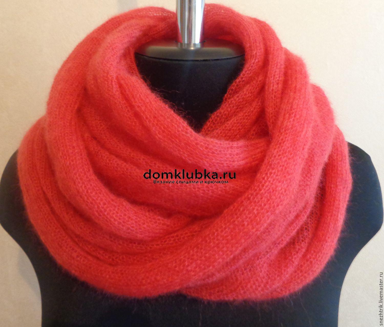 схемы шарф из мохера спицами