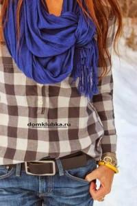 Стильный шарф на рубашку