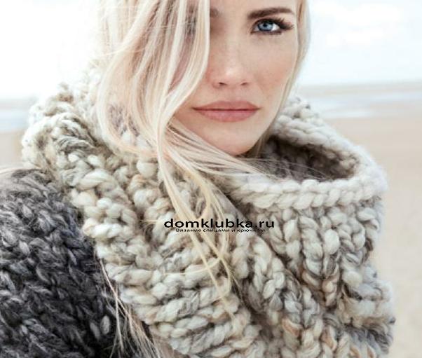 МОдный вязаный шарф