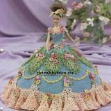 Красивое вязаное платье для куклы