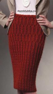 Модная вязаная юбка