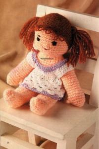 Мягкая кукла барби