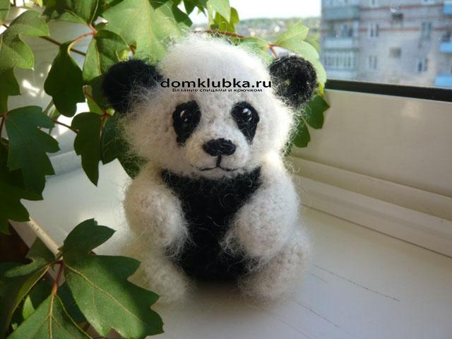 милая панда амигуруми