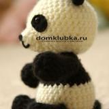 вязаная панда амигуруми