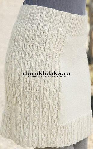 Двухцветные вязаные юбки