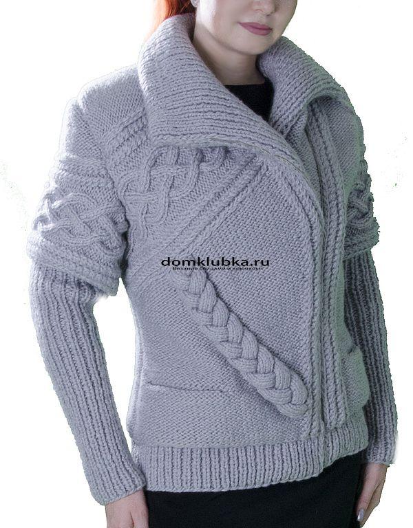 Вязание куртки для женщин видео