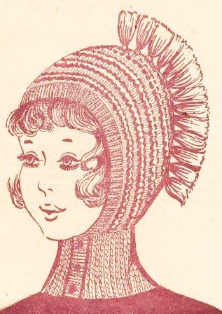 Вязание шапки-шлема спицами