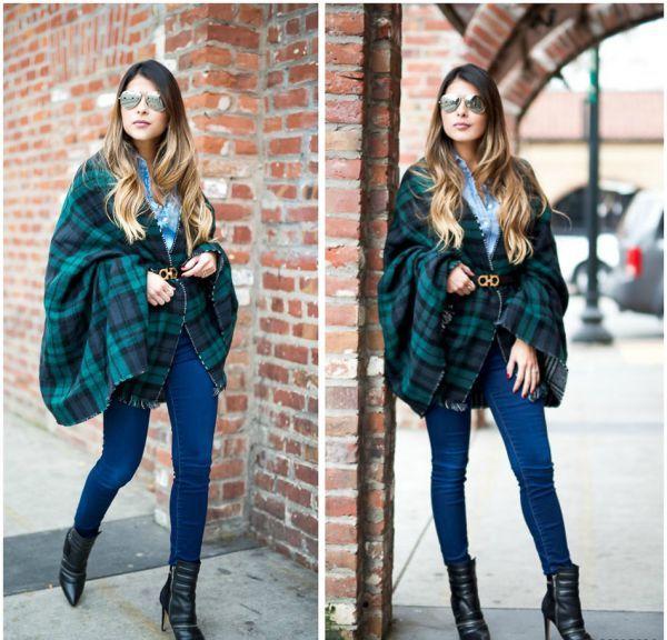 Модное пончо-накидка для деловых женщин
