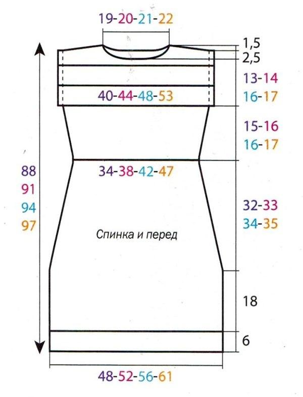 Модель для вязания платья