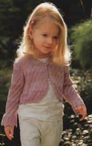 Вязание крючком болеро для девочки двух лет: схемы и описание