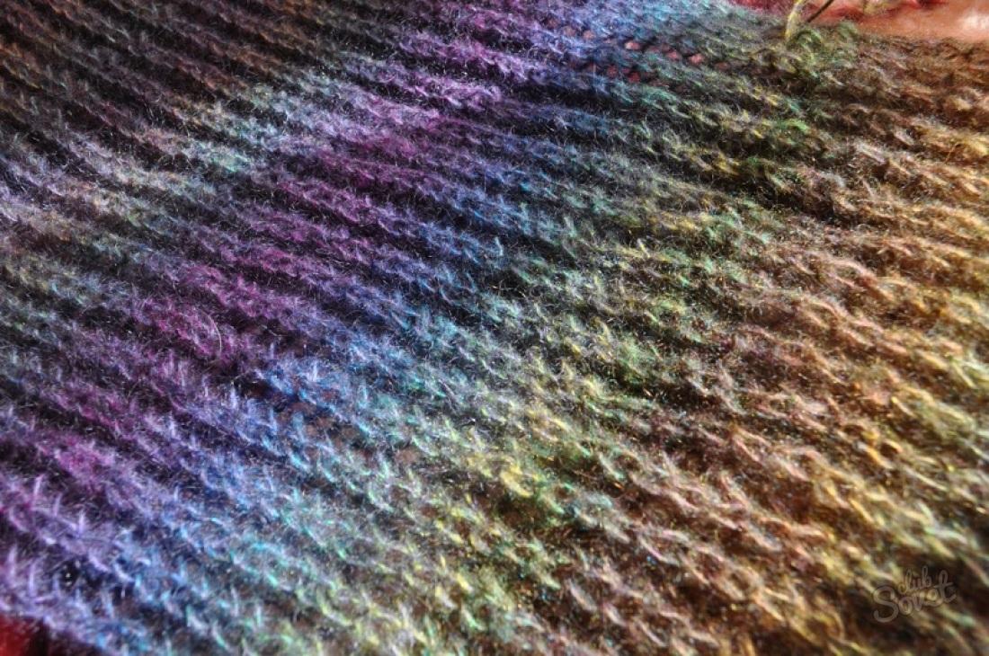 Вязание спицами эластичной резинки