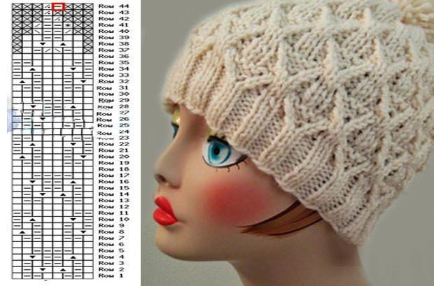 Узор плетенка для вязания