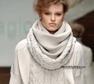 объёмный шарф, удобно и красиво