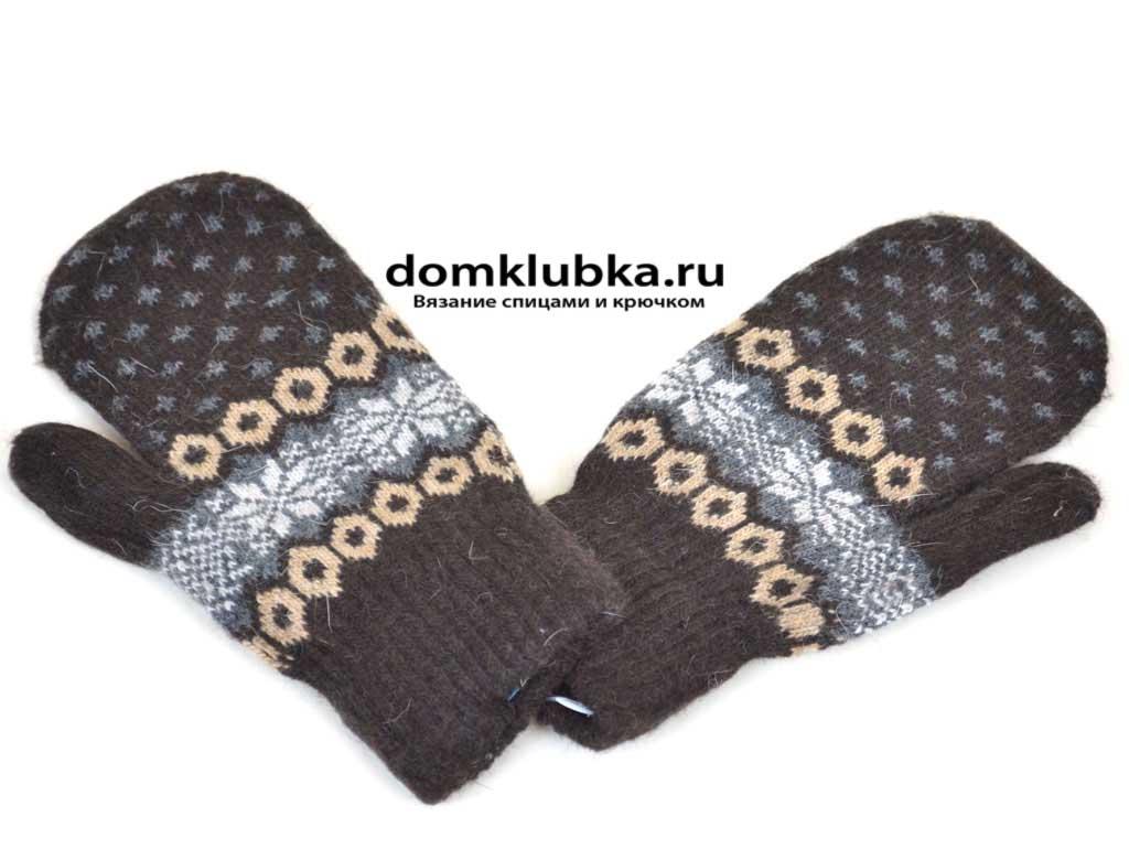 Коричневые рукавицы