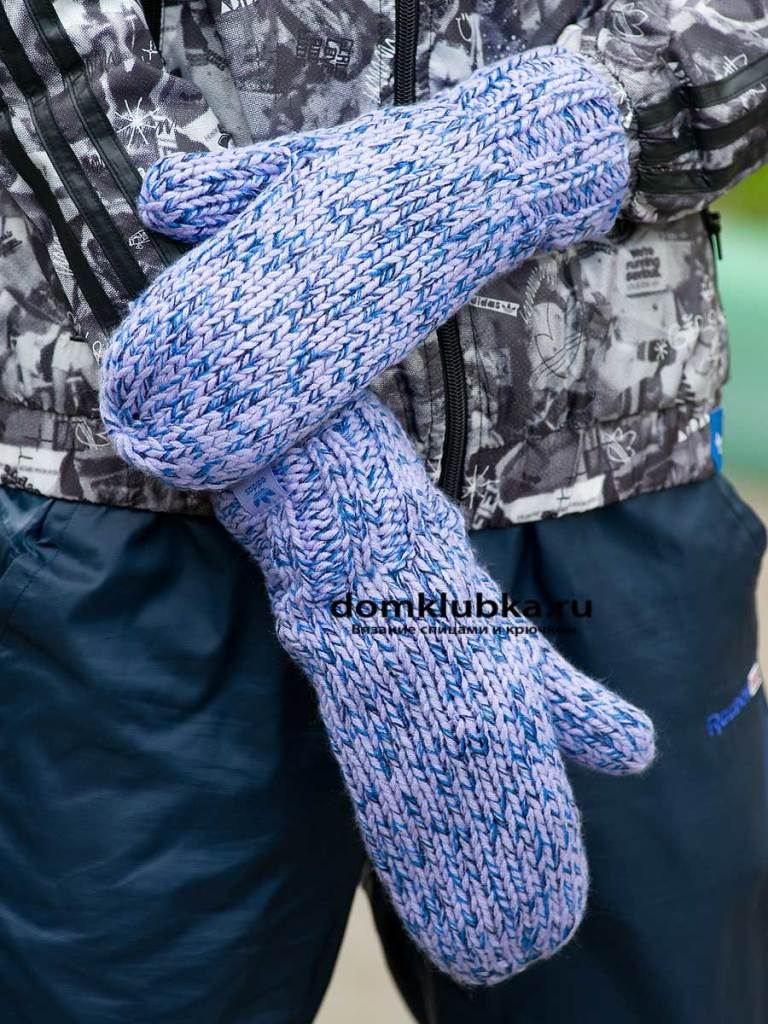 Простые синие рукавицы для мужчин
