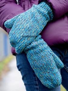 Пёстрые голубые рукавицы