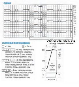 Схема для жилета с глубоким вырезом