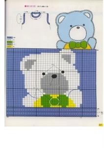 Схема по вязанию детской жилетки с медведем