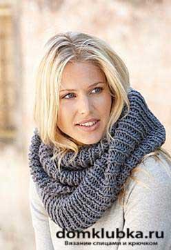 Схема вязания шарф хомут крупной вязки