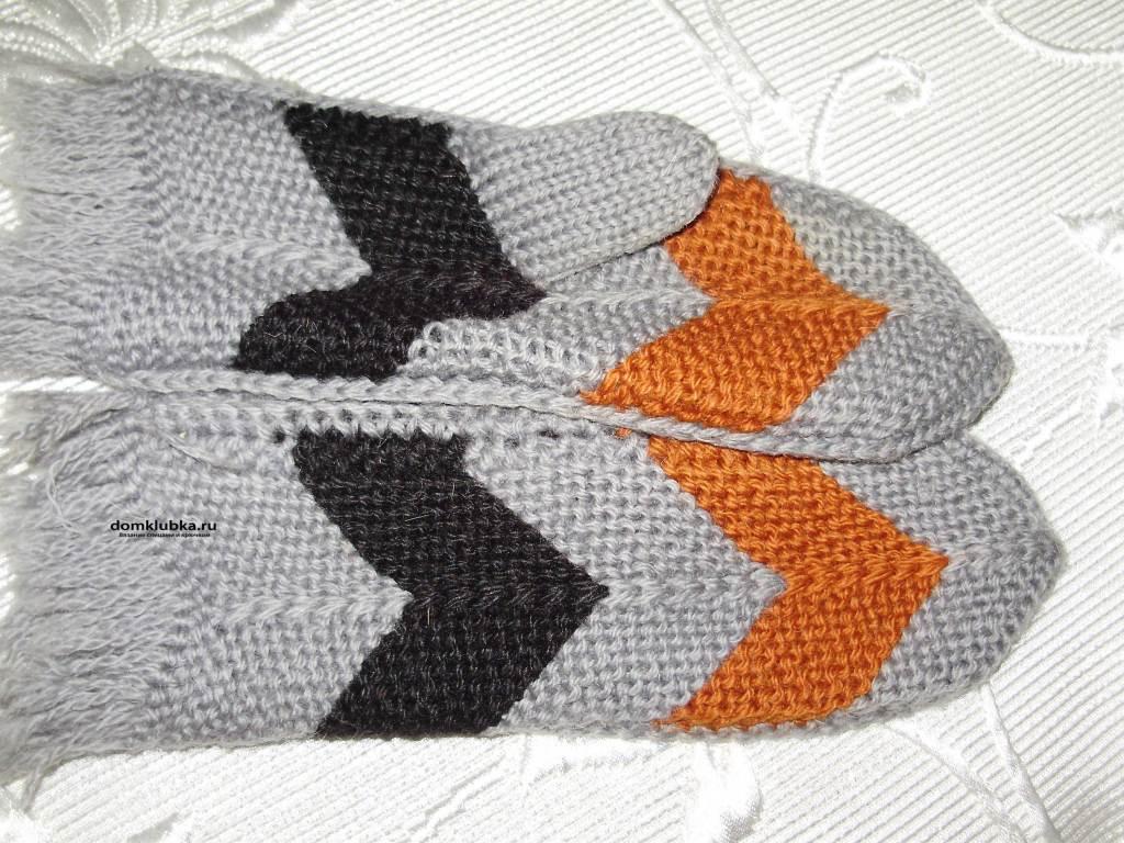 Контрастные рукавицы