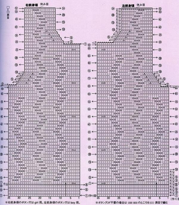 Схема по вязанию спицами жилетки для мальчика