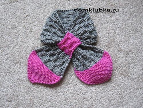 самые простые способы вязания детских шарфиков