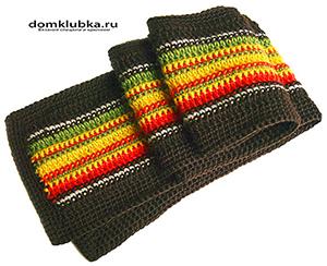 Цветной полосатый шарф