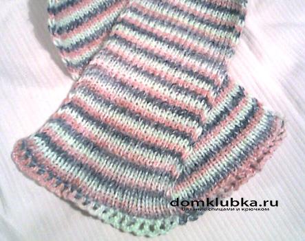 Полосатый шарф для мальчика
